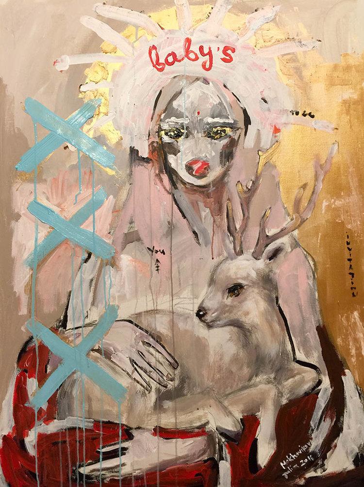 triple x / canvas, acrylic / 120x90cm / 2016