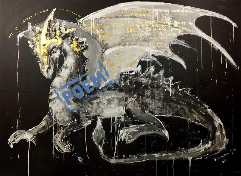 drag / canvas, acrylic / 110x150cm / 2018