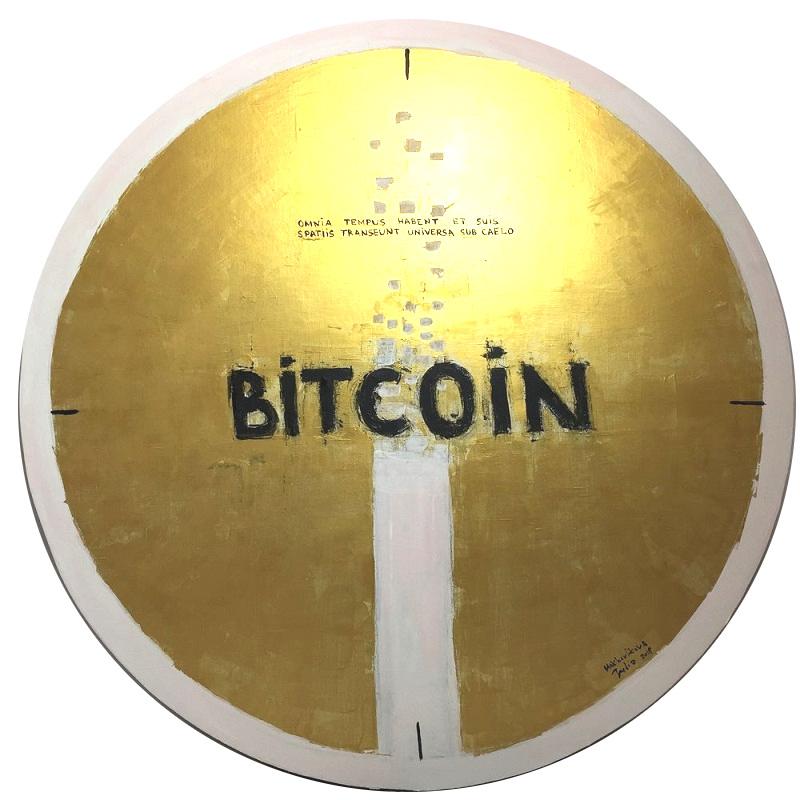 bitcoin. time / canvas, acrylic / D120cm / 2018