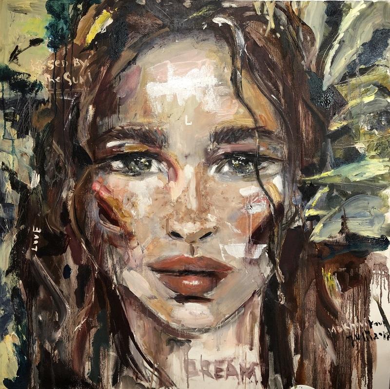 portrait E / canvas, oil / 100x100cm / 2018
