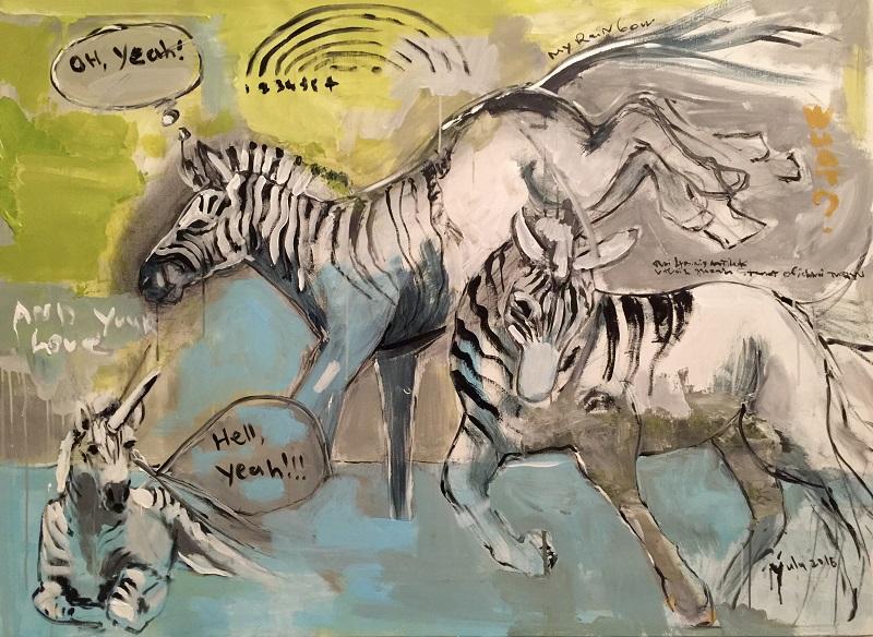 rainbow dance / canvas, acrylic / 110x150cm / 2016