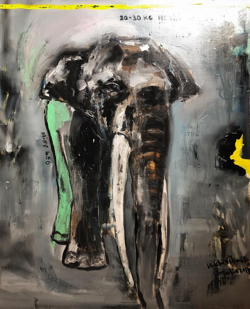 minty leg / canvas, oil / 85x70cm / 2018