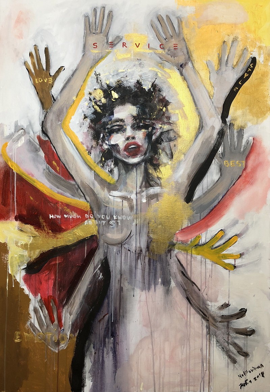 service / canvas, acrylic / 130x90cm / 2018