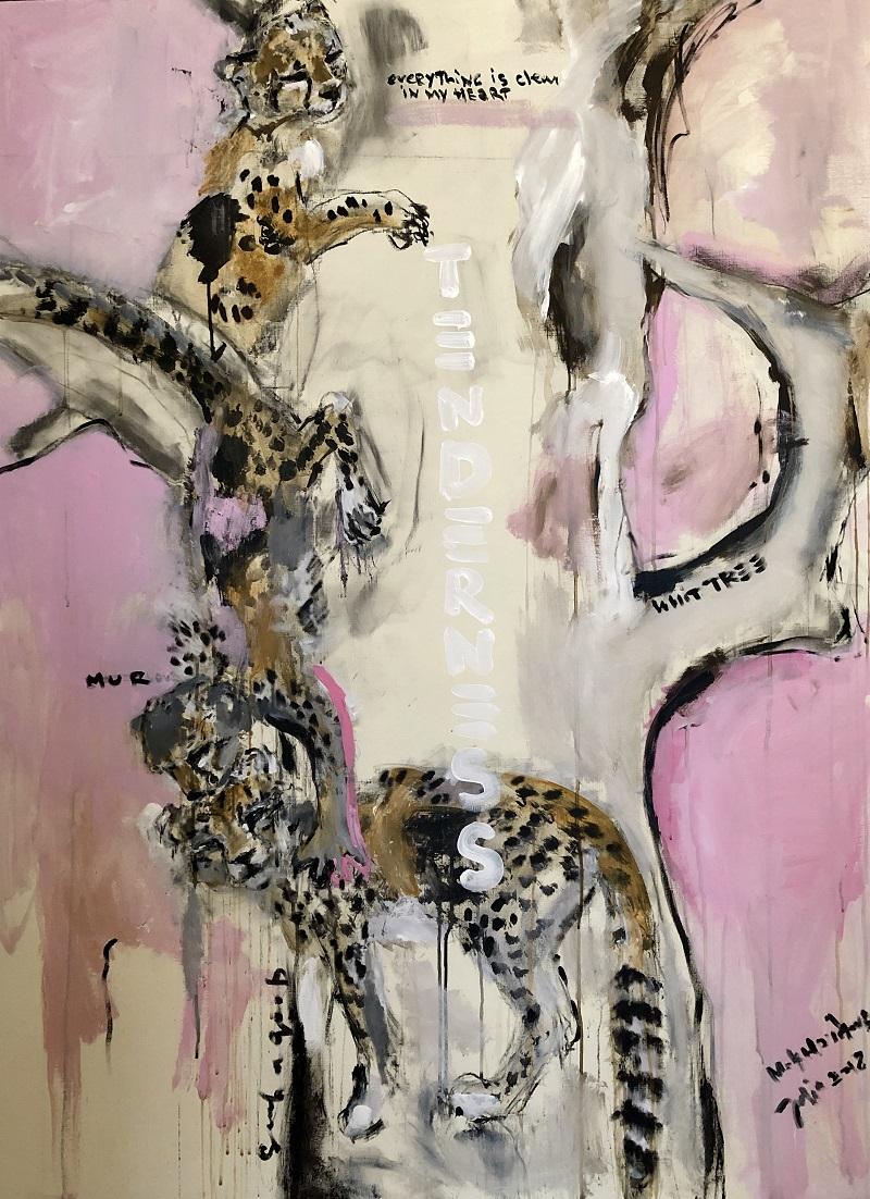 on the white tree canvas, acrylic 150x110cm