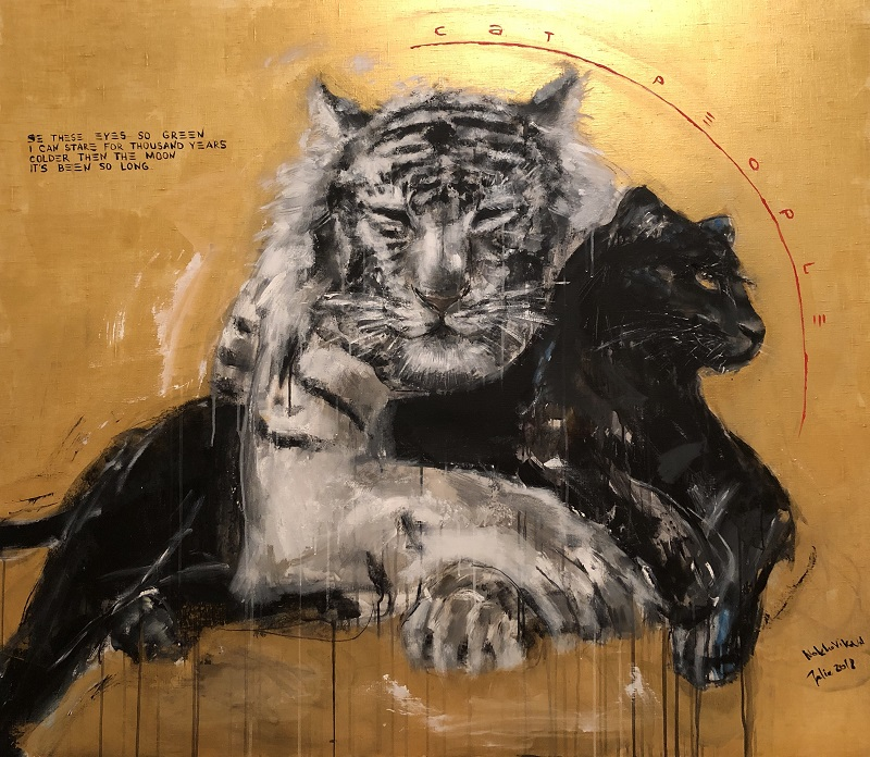 cat people / canvas, acrylic / 130x150cm / 2018