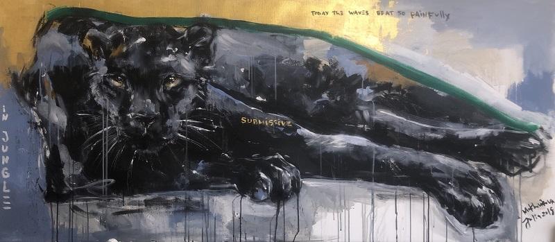 submissive / canvas, acrylic / 80x180cm / 2019