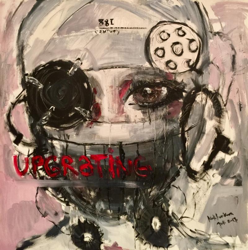 upgrating / canvas, acrylic / 100x100cm / 2016