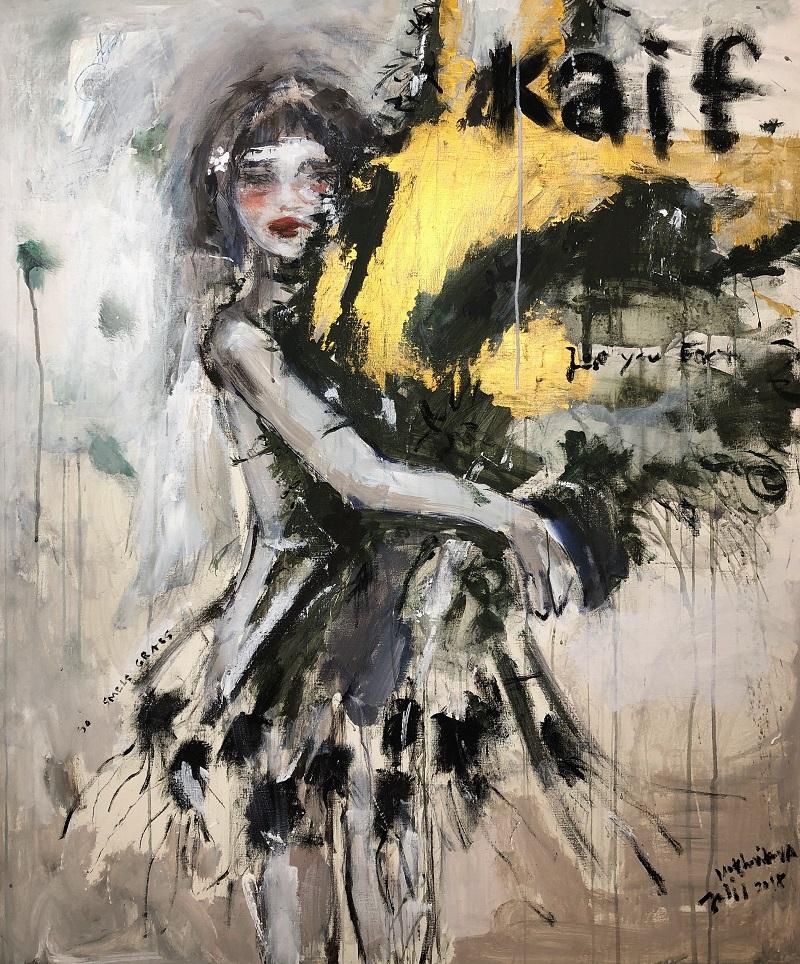 kaif / canvas, acrylic / 120x90cm / 2018