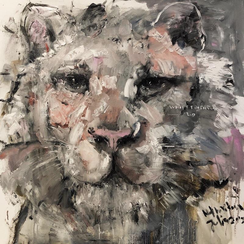faithful she / canvas, oil / 100x100cm / 2019
