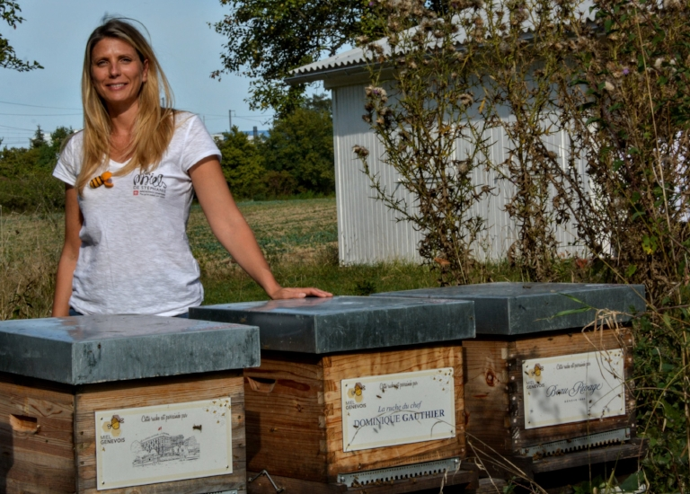 Stéphanie and her hives