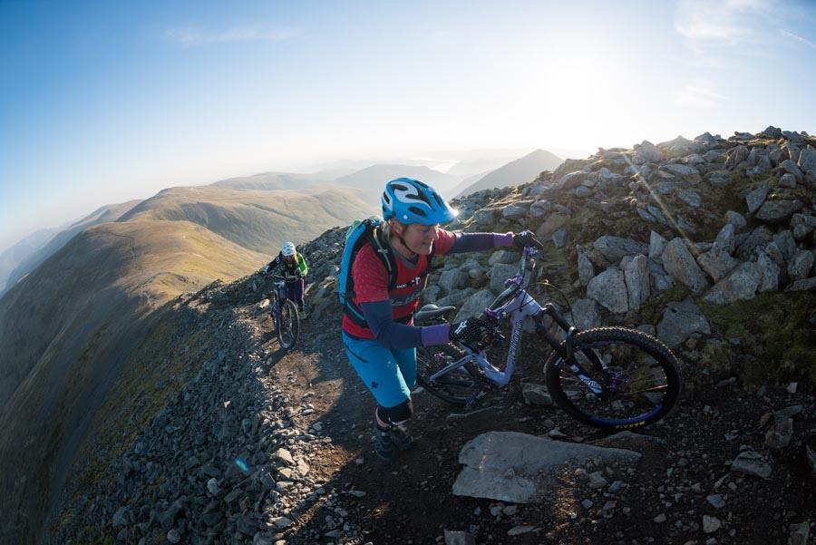 Helvellyn hike-a-bike! Image: Roo Fowler
