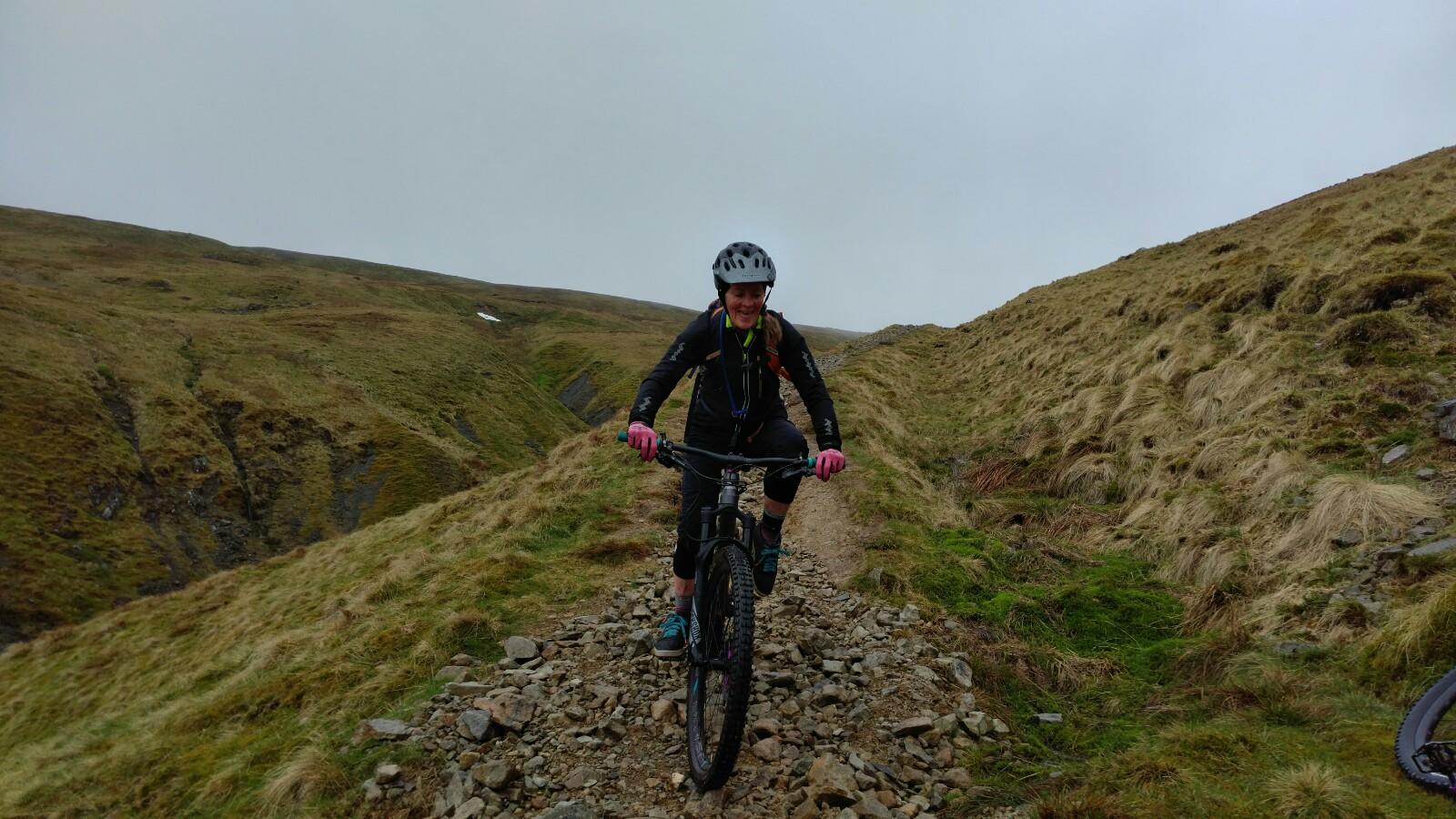 Mountain biking on Helvellyn