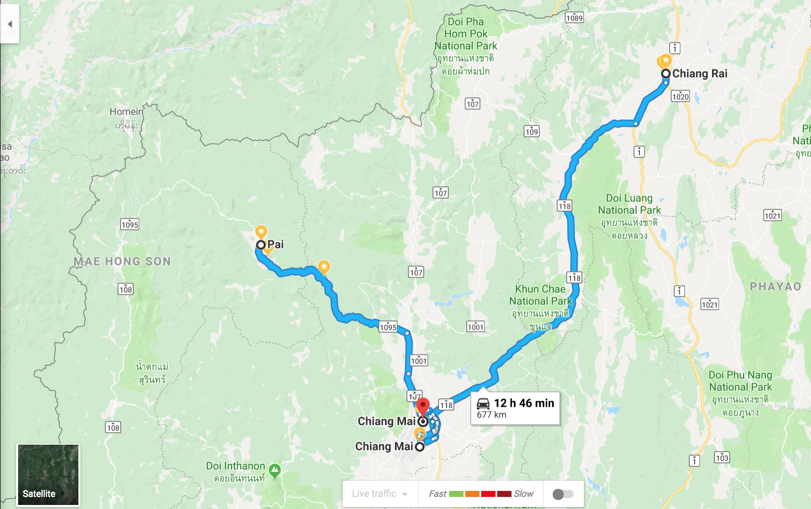 Thailand itinerary 10 days: time it takes to go from chiang mai to pai to chiang mai to chiang rai and back to chiang mai