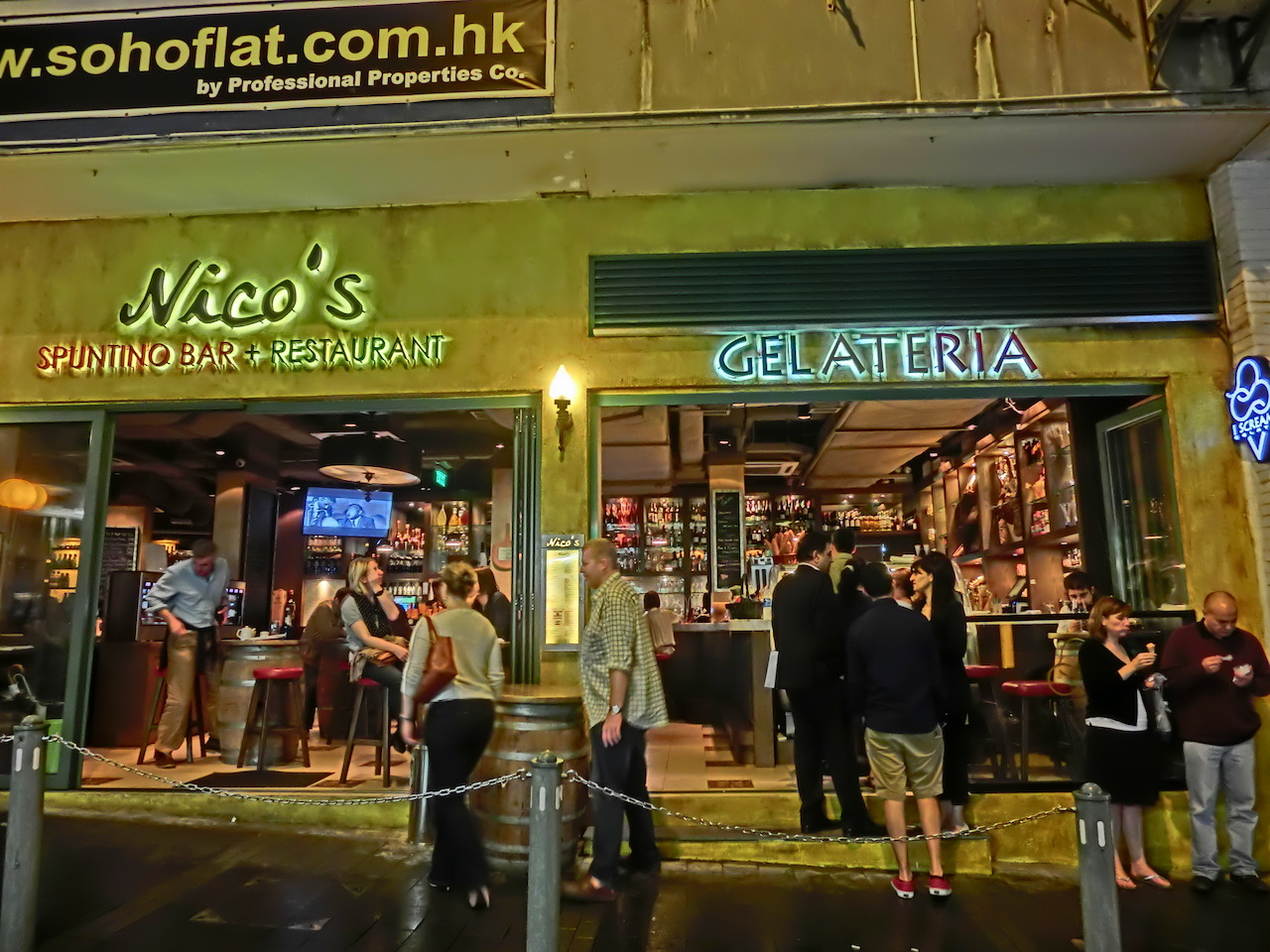 Hong Kong Central Soho night