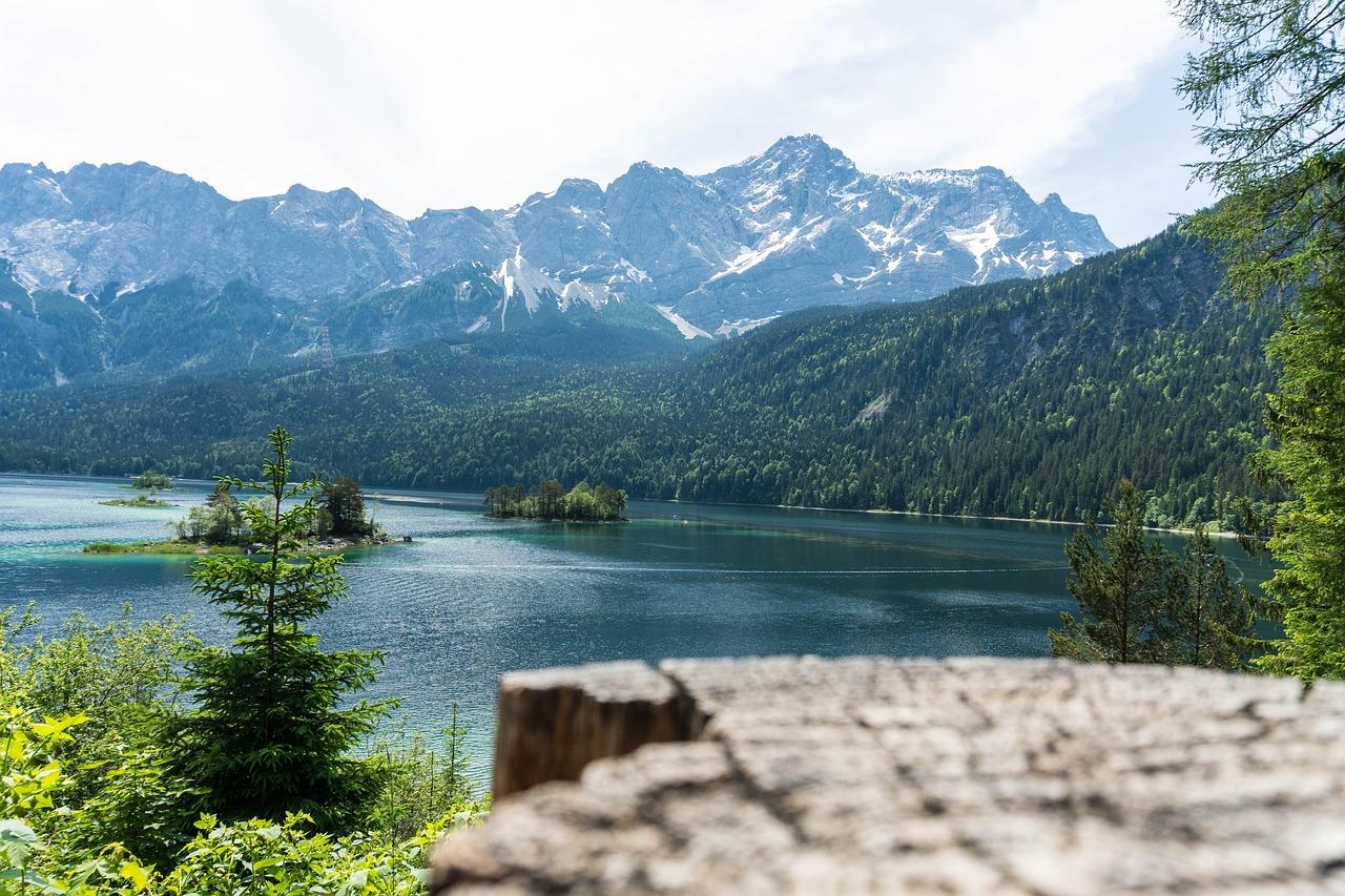 Eibsee a lake in Bavaria Germany