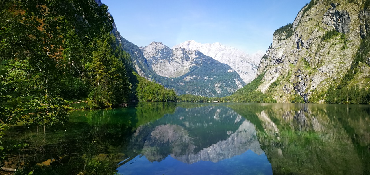 Obersee mountain lakes in germany