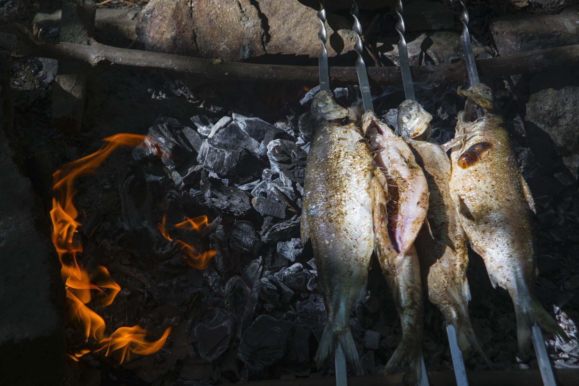 Armenian trout barbeque in Armenia Caucasus.jpg
