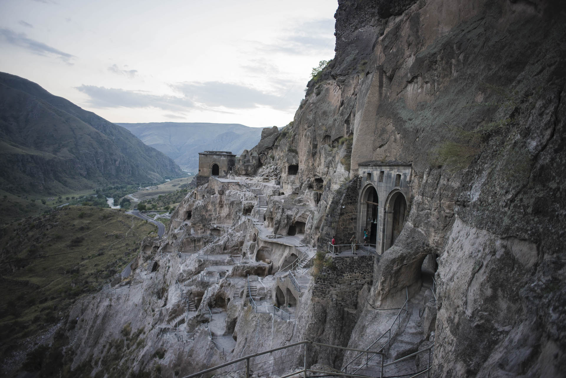 Vardzia caves in Georgia Caucasus