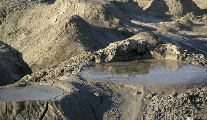 Mud Volcano in Azerbaijan Caucasus