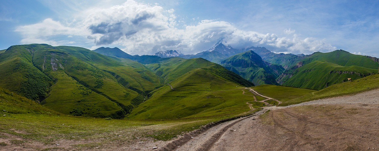 Mountains in Georgia, the South Caucasus