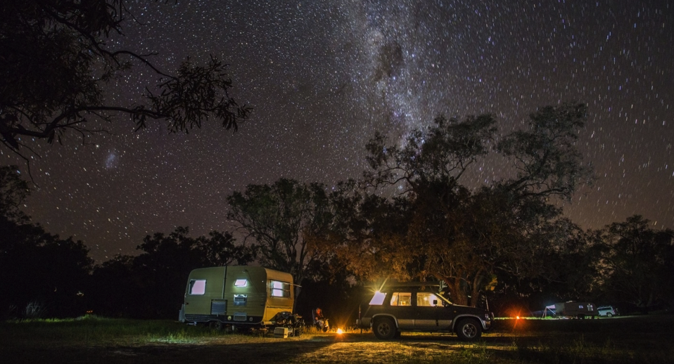 Combine your road trip with a camping trip