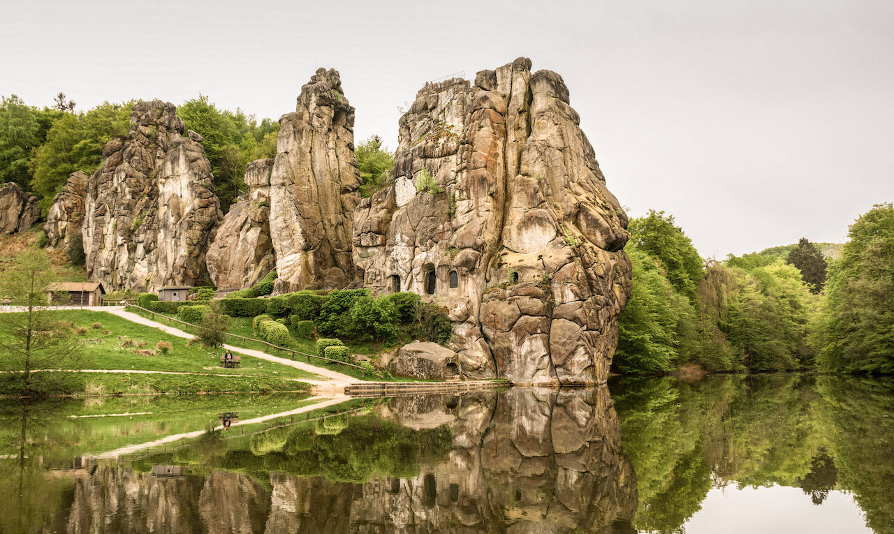 german nature The Externsteine physical features or landmarks of germany