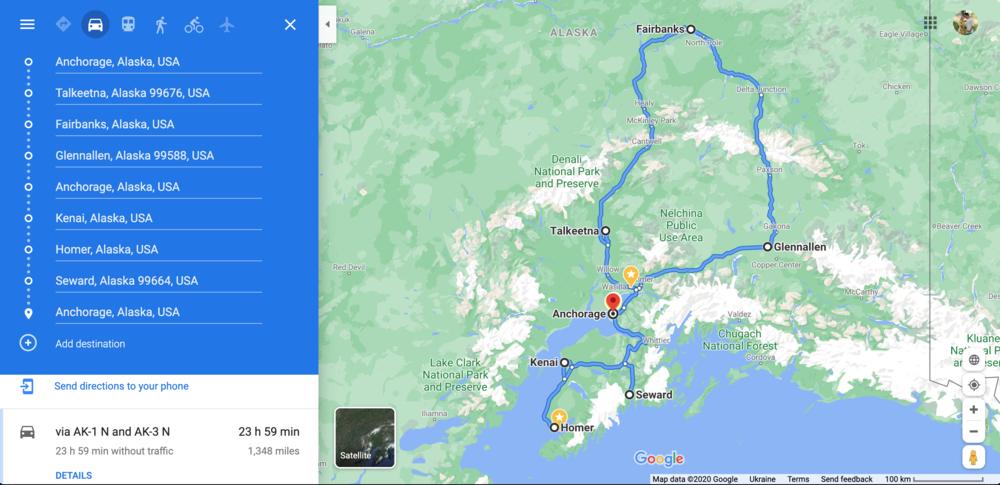 Alaska Road Trip Itinerary The Executive Thrillseeker