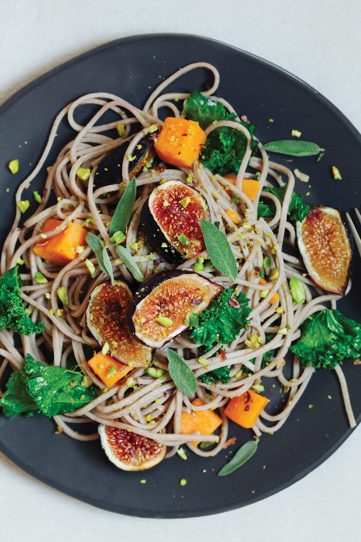 Early Fall Soba Noodles with Broiled Figs, Kabocha Squash and Kale.jpg