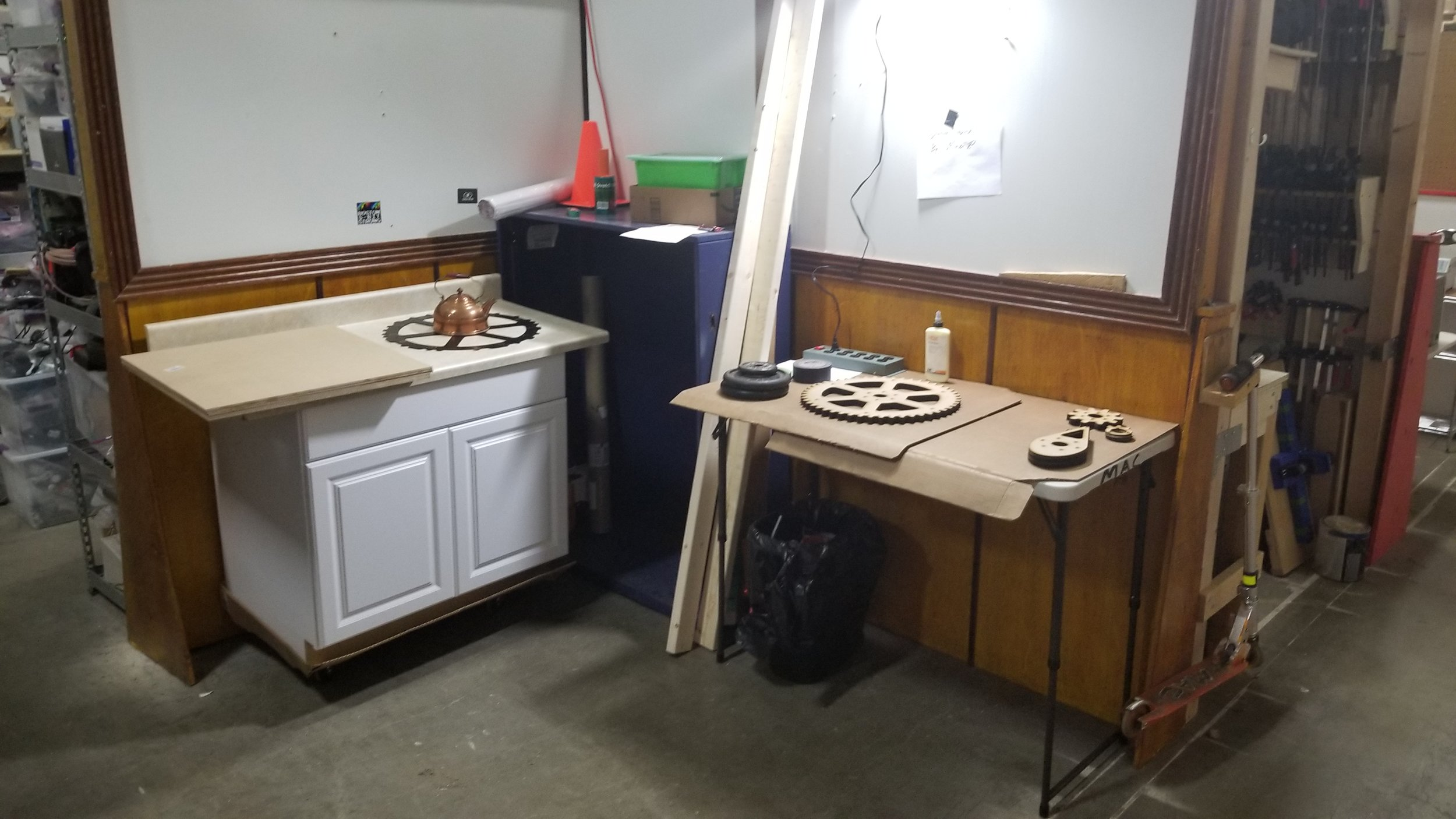 A flex space for the Kitchen Sink