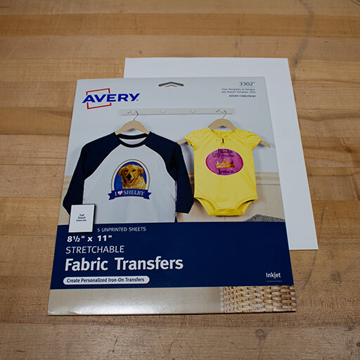 3 - Stretchable Print Transfer Sheets - US Letter Sized$12 for a 5-pack