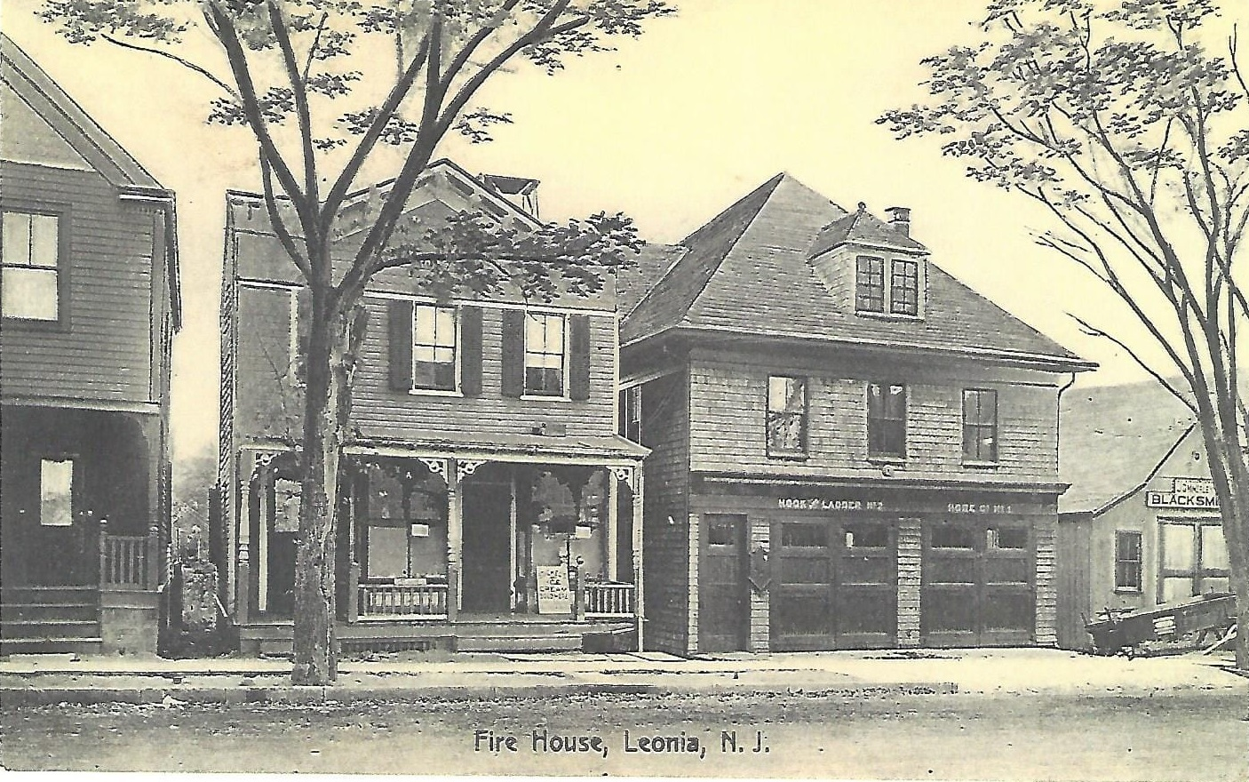 Store, Firehouse & blacksmith 1895 (postcard collection)