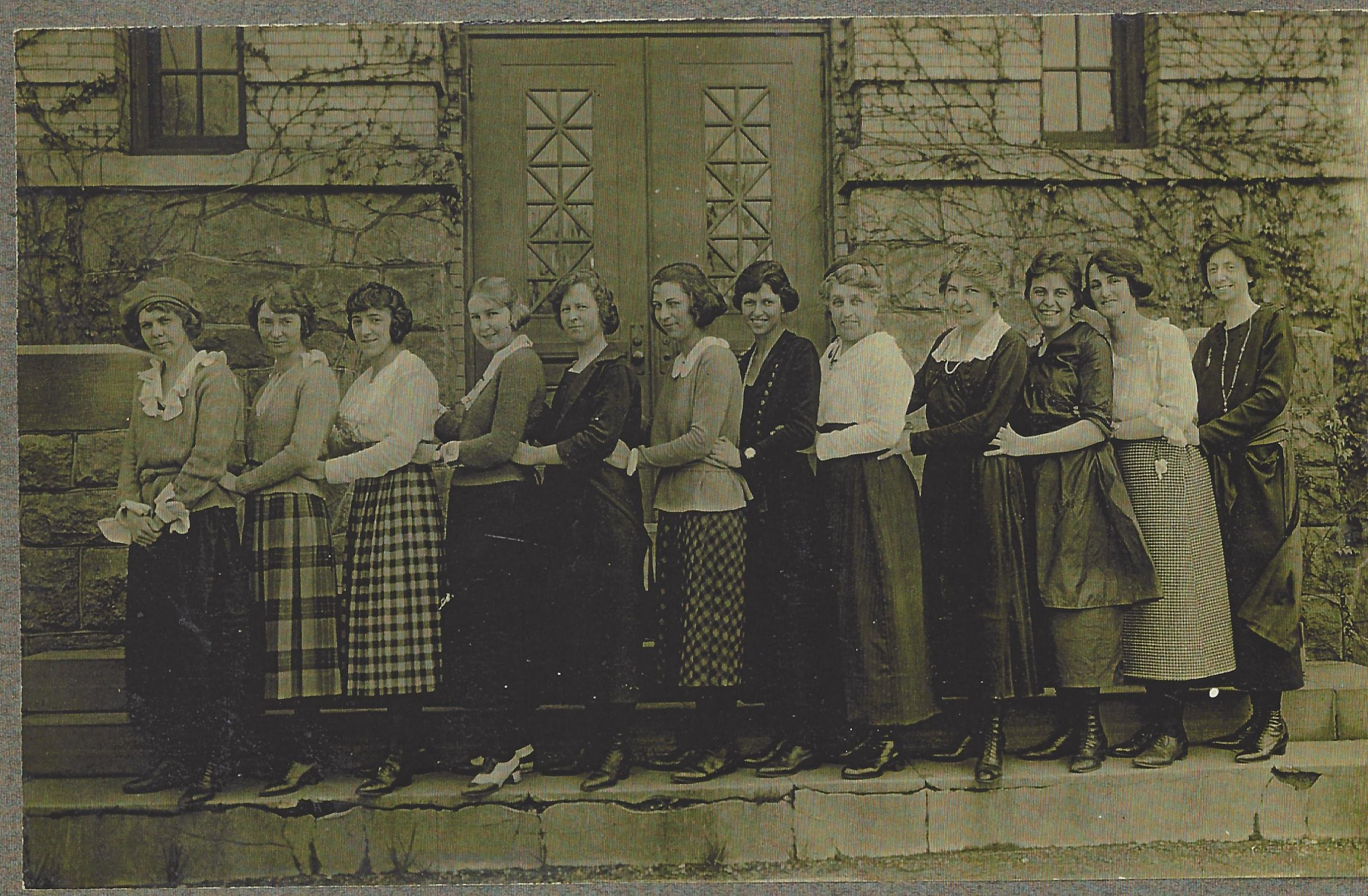 Anna C. Scott, 4th from right, with faculty 1920 (Muriel Coles Collection)