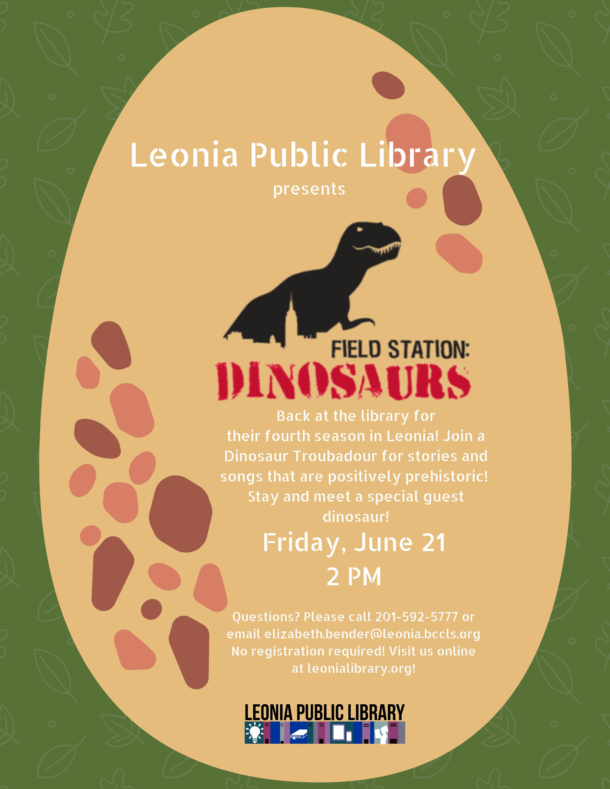 Field Station: Dinosaurs! Visit — Leonia Public Library in