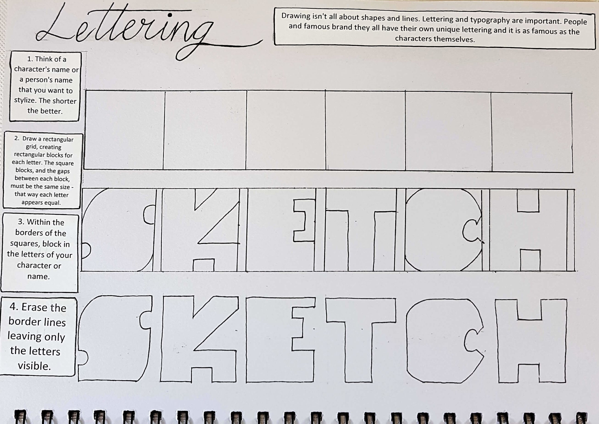 Day 9: Lettering (part 1)