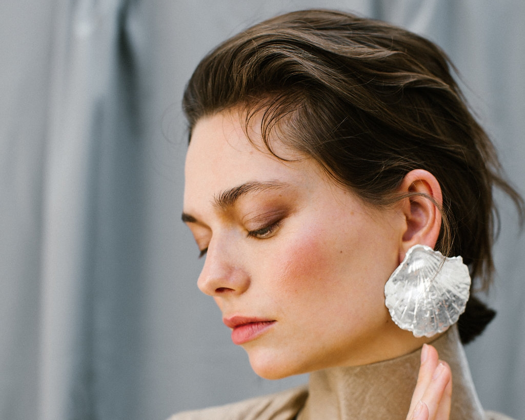 The Coppia earring handmade Sterling Silver earrings by Naturae Design.