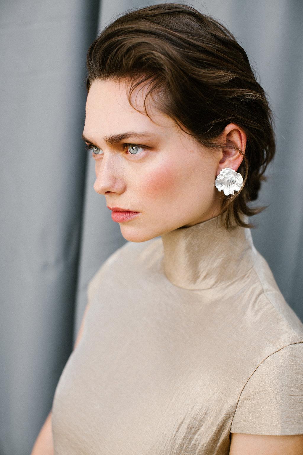 The Cardea earring handmade Sterling Silver earrings by Naturae Design.