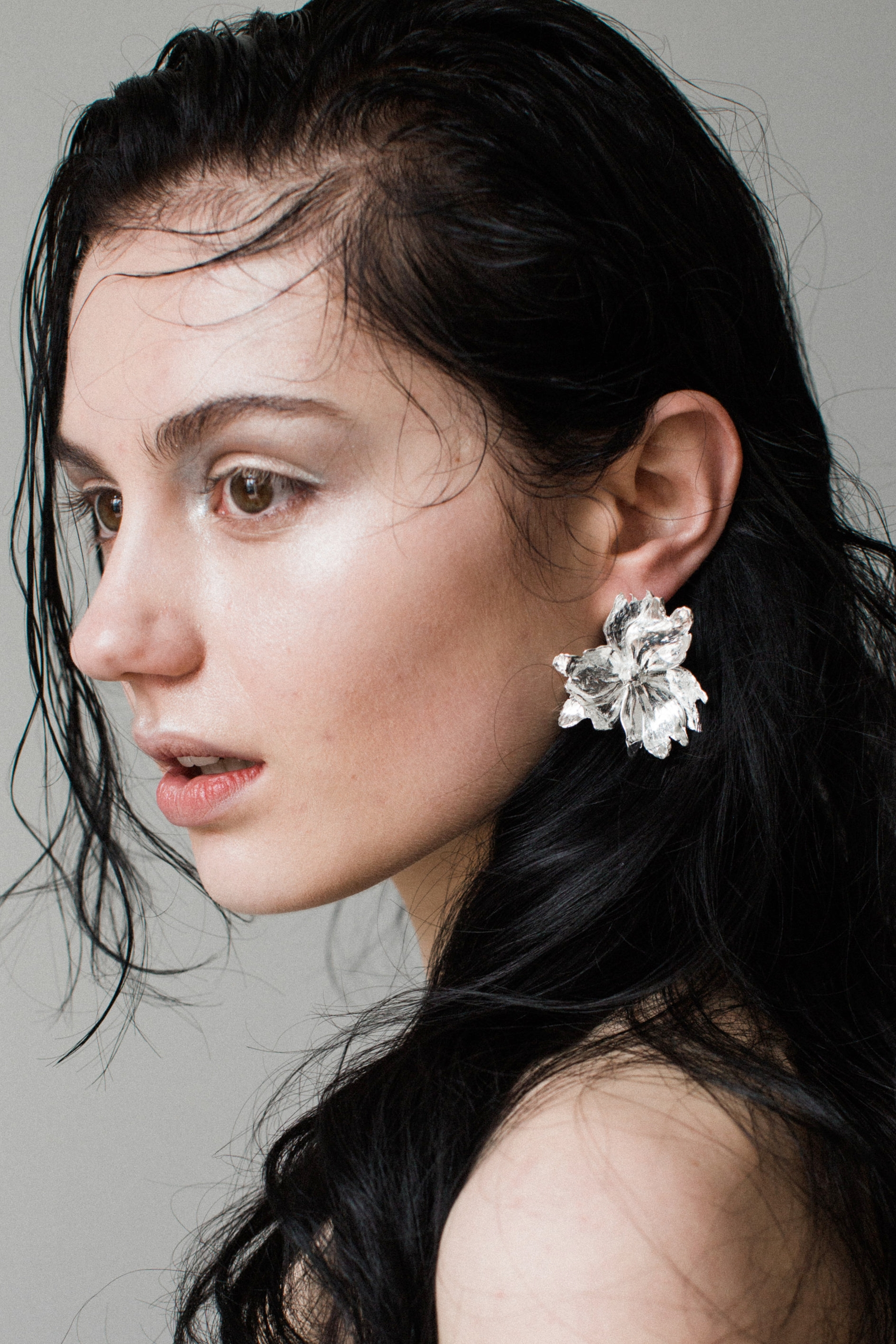 The Flore Earrings Sterling Silver Handmade by Naturae Design