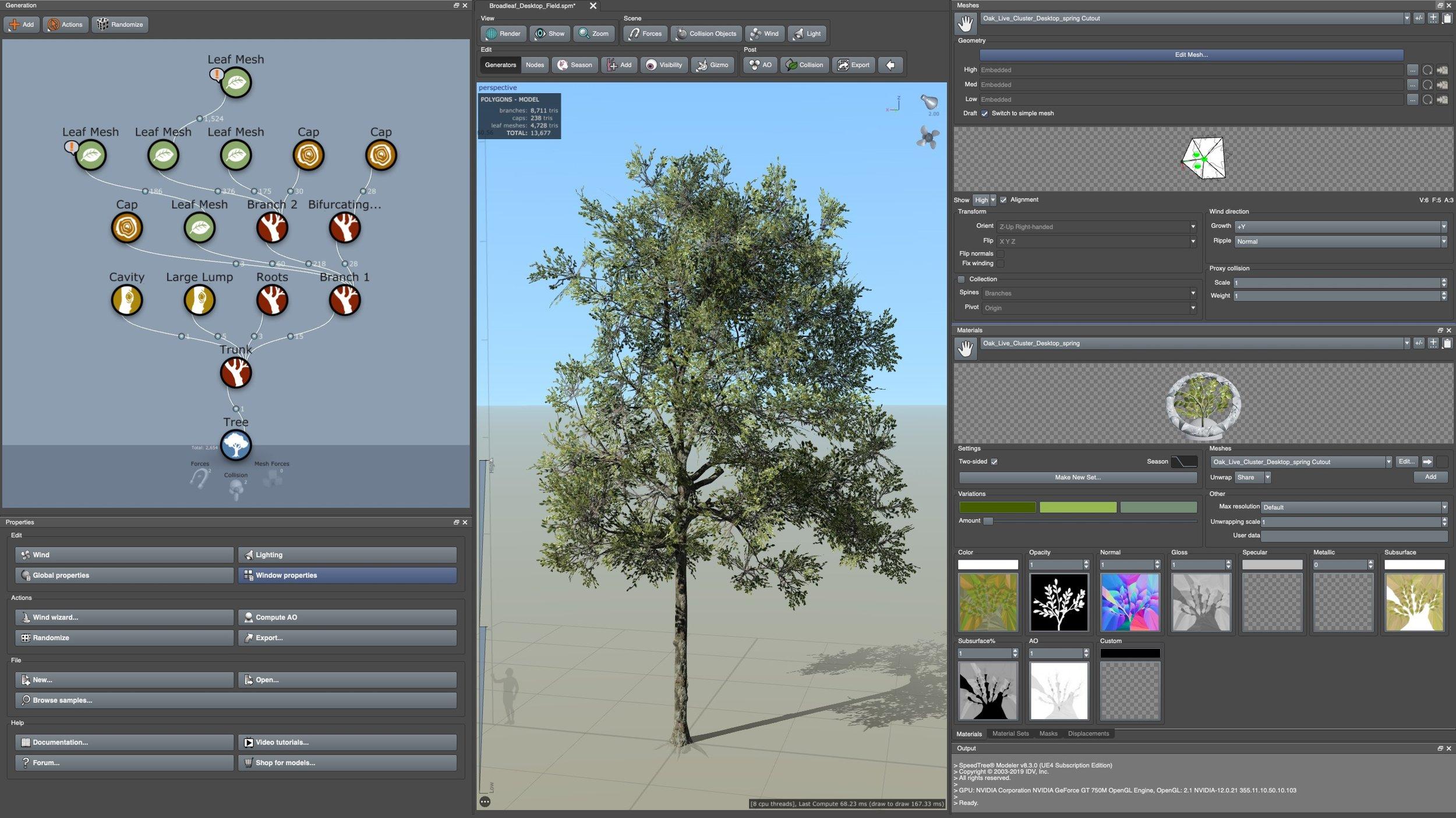 SpeedTree Vegetation Modeling Software