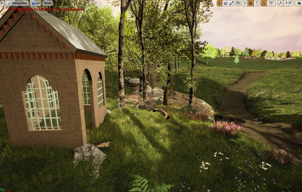 Unreal Engine grass and foliage tests.