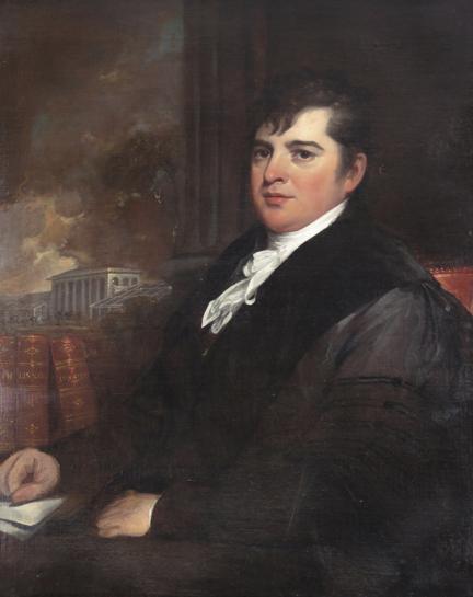 Portrait of David Hosack by John Trumbull (c. 1810)
