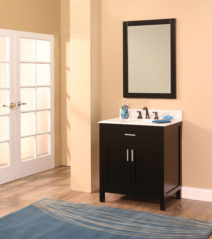 "Arezzo Bathroom Vanity Set, Silky Black 30""    $995.00"