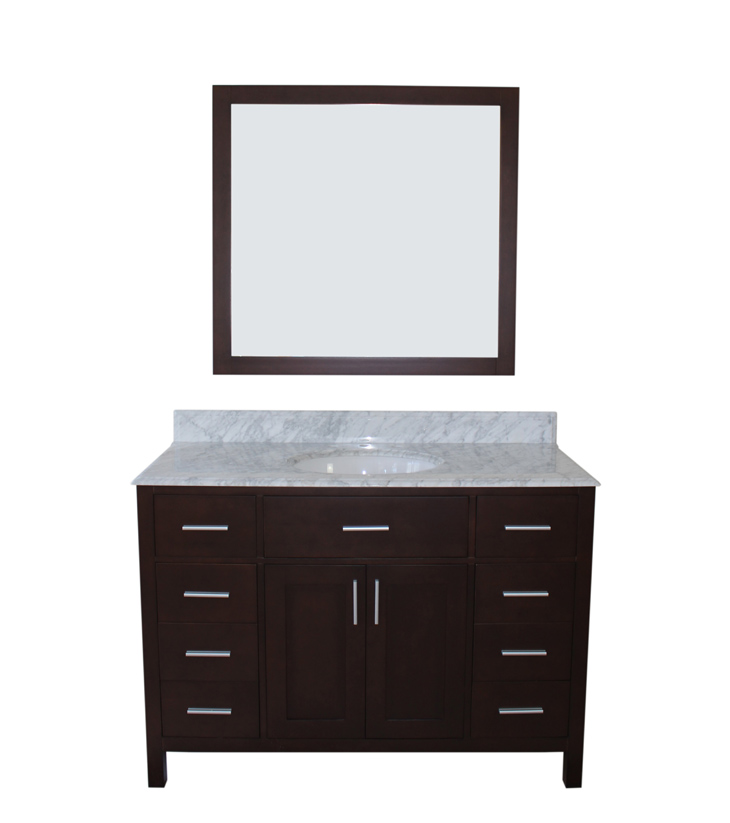 "Arezzo Bathroom Vanity Set, Silky Black 48""    $1350.00"