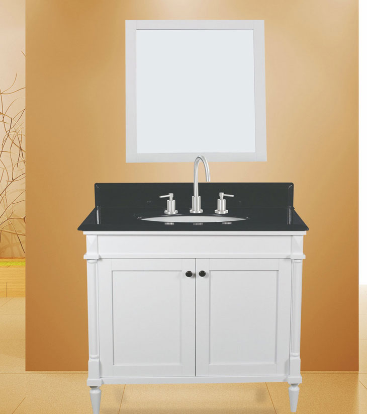 "Barcelona Bathroom Vanity Set, Silky White 36""     $999.00"