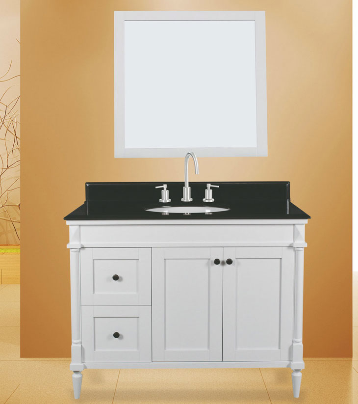 "Barcelona bath Vanity Set, Silky White 42"" DL     $1099.00"