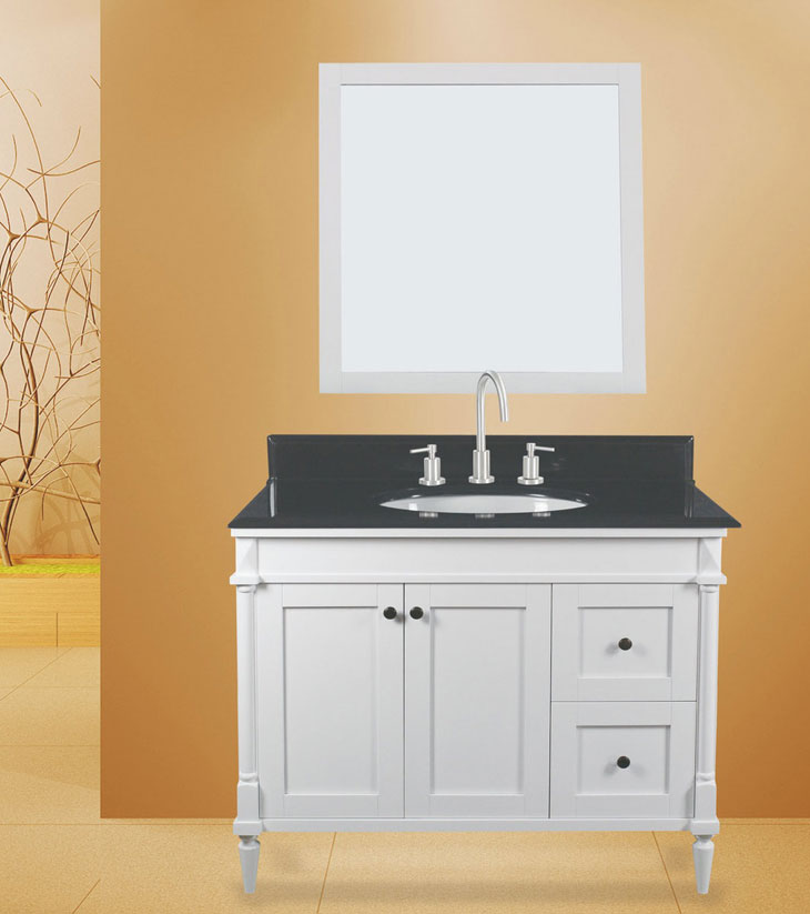 "Barcelona bath Vanity Set, Silky White 42"" DR     $1099.00"