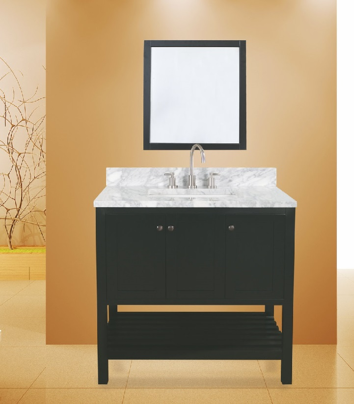 "hampton bay bathroom vanity set absolute black, 36""     $1050.00"