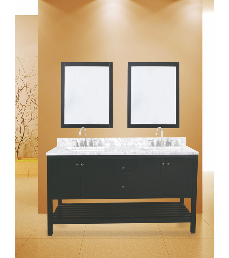 "hampton bay bathroom vanity set absolute black, 60""     $1450.00"