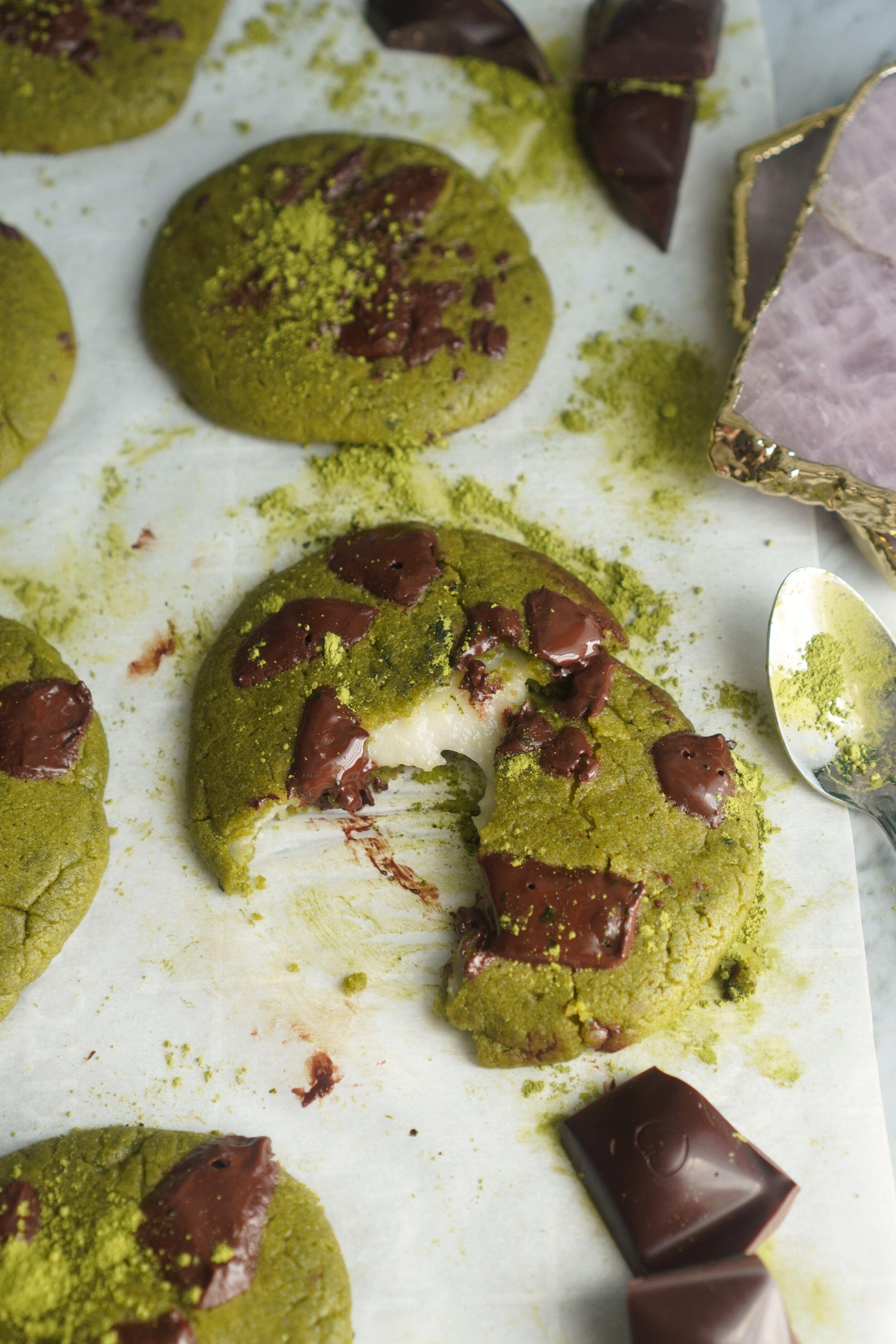 Matcha Mochi Cookies Recipe Nom Life