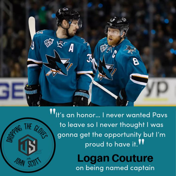Logan Couture San Jose Sharks Captain