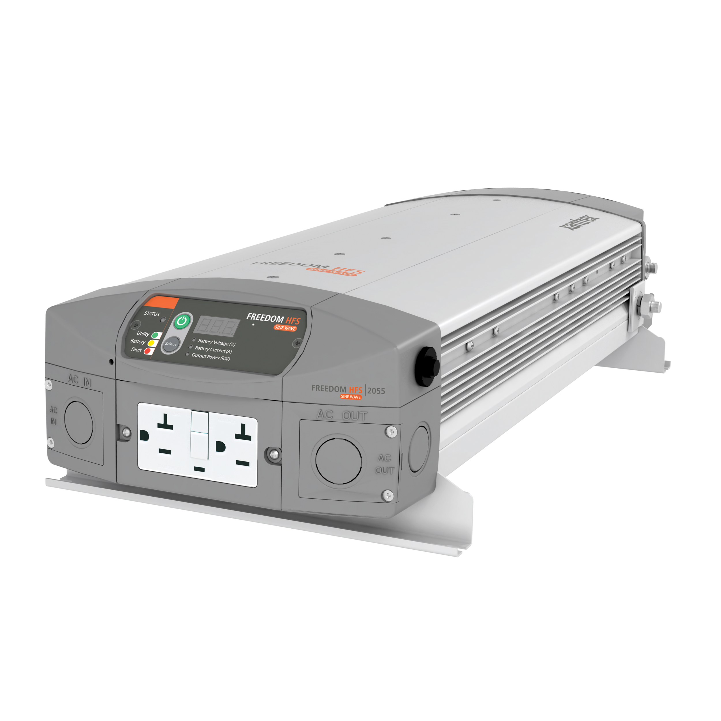 Xantrex inverter/charger monitors and charges the battery      Provides 20000 Watts of power for anything you need to use with the PartyPod